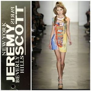 JEREMY SCOTT Greetings/Paradise t shirt dress BNWT